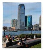 Relaxing Weekend On New York Harbor Fleece Blanket