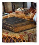 Relics Of A Lighthouse Keeper Fleece Blanket