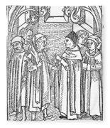 Religious Argument, 1477 Fleece Blanket