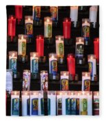 Religious Candles Fleece Blanket