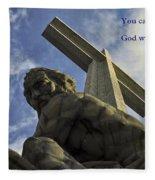 Religious Sculpture And Words Fleece Blanket