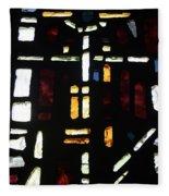 Religious Symbols In Glass Fleece Blanket