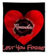 Remember With Love Fleece Blanket