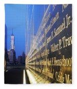 Remembering 9/11-hope And Despair Fleece Blanket