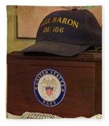 Remembering De-166 Uss Baron Fleece Blanket