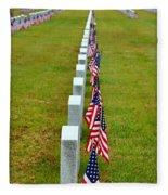 Remembering Veteran's Day Fleece Blanket