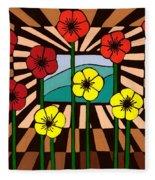 Remembrance Poppy Fleece Blanket