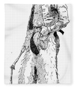Remington Cowboy, 1887 Fleece Blanket