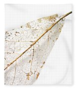 Remnant Leaf Fleece Blanket