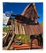 Remnants Of The Colorado Gold Rush Fleece Blanket