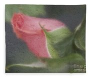 Rendition Of A Rose Fleece Blanket