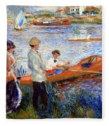 Renoir's Oarsmen At Chatou Fleece Blanket