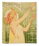 Reproduction Of A Poster Advertising 'robette Absinthe' Fleece Blanket