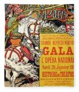 Reproduction Of A Poster Advertising The Fetes De Paris Fleece Blanket