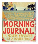 Reproduction Of A Poster Advertising The Morning Journal Fleece Blanket