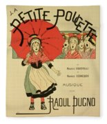 Reproduction Of A Poster Advertising The Operetta La Petite Poucette Fleece Blanket