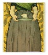 Reproduction Of A Poster Advertising Van Houten Cocoa Fleece Blanket