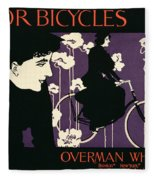 Reproduction Of A Poster Advertising Victor Bicycles Fleece Blanket