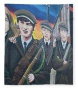 Republican Murals Against British Rule Fleece Blanket