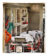 Rescue - Inside The Ambulance Fleece Blanket