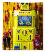 Rescue Robot Fleece Blanket