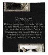 Rescued Fleece Blanket