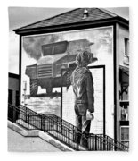 Resistance Mural In Derry Fleece Blanket