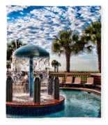 Resort Pool Fleece Blanket