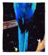 Resplendant Quetzal Of Costa Rica Fleece Blanket