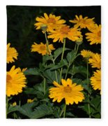 Resplendent Yellows Fleece Blanket