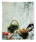 Rest From Garden Chores Fleece Blanket