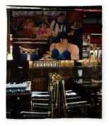 Restaurant In Montmartre Fleece Blanket