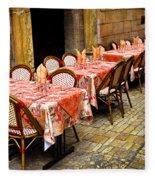 Restaurant Patio In France Fleece Blanket