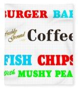 Restaurant Signs Fleece Blanket