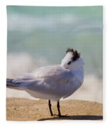 Resting At The Beach Fleece Blanket