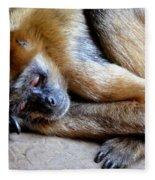Resting Comfortably Fleece Blanket