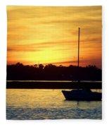 Resting In A Mango Sunset Fleece Blanket
