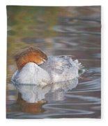 Resting Merganser Fleece Blanket