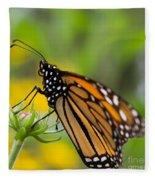 Resting Monarch Butterfly Fleece Blanket