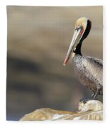 Resting Pelican Fleece Blanket