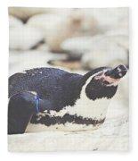 Resting Penguin Fleece Blanket