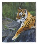 Resting Place - Tiger Cub Fleece Blanket