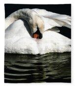Resting Swan Fleece Blanket