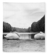 Resting Swans Fleece Blanket