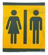 Restroom Sign Symbol For Men And Women Fleece Blanket