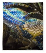 Reticulated Python With Rainbow Scales 2 Fleece Blanket