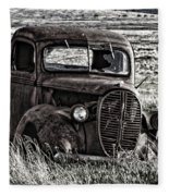 Retired Farm Truck Fleece Blanket