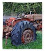 Retired Tractor Fleece Blanket