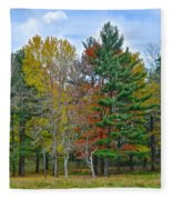 Retreating Pines Fleece Blanket