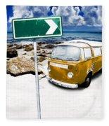 Retro Beach Van Fleece Blanket